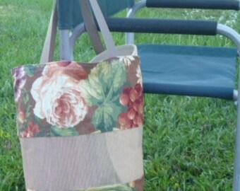 Market Bag w Vinyl Mesh Panel ~ Sturdy Lined FREE SHIPPING