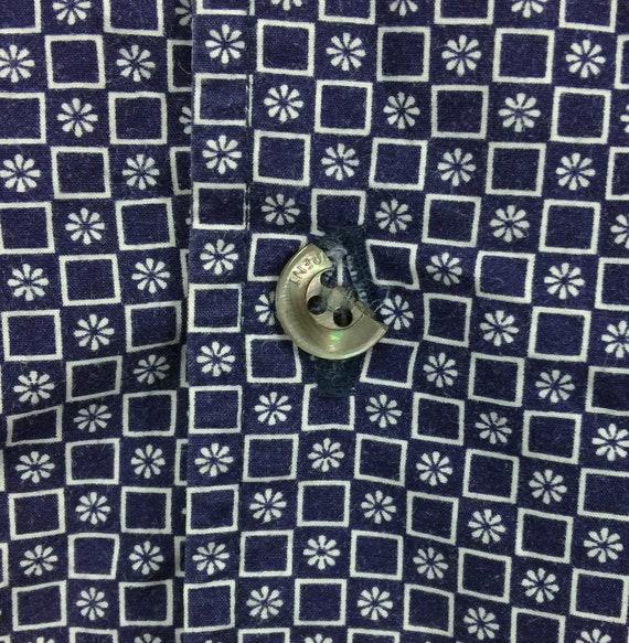 Saint laurent Rare button logo shirt vintage down saint shirt designer Yves Laurent embroidered 1qwZxOqU