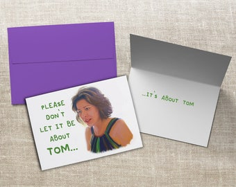 Real Housewives of New York Countess LuAnn de Lesseps Tom Card RHONY Greeting Card