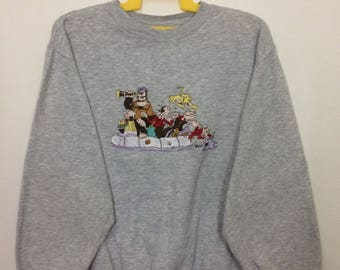 Vintage Sweatshirt Cartoon Characters Popeye And Friends XLarge Size
