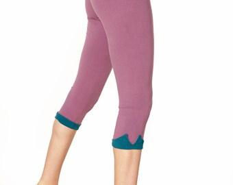 ORGANIC Cotton Yoga Capris, Crop Leggings, Cropped Pants, Womens Capris, Workout Clothes, Yoga Leggings, Capri Pants, Capri Yoga Leggings
