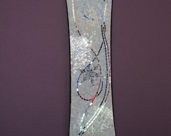 White Drifted Mosaic Snowboard