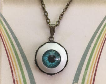 Blue eyeball necklace eye pendant blue eye necklace eyeball aloadofball Choice Image