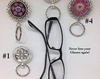 Magnetic Eyeglass and Sunglass Holder or ID Badge Holder, Eyeglass Lanyard
