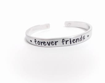 Forever Friends Bracelet, Friend Gift, Friend, Forever Friend, Hand Stamped Bracelet, Best Friend, Personalized Friend Jewelry, BFF, Custom