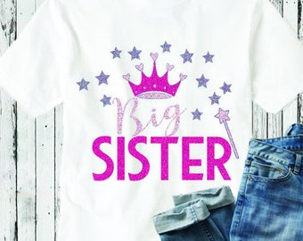 Big Sister SVG  Sibling Kids Family shirt design SVG, Eps DXf cut file set, Printable Png, Cricut Silhouette Digital Cut Files