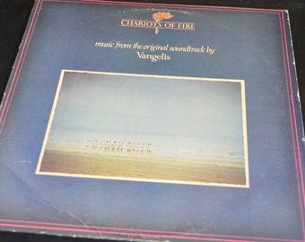 Vintage Vinyl Record Chariots of Fire Soundtrack by Vangelis Album PD-1-6335