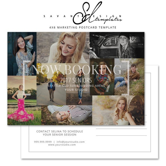 Now Booking Marketing Template Postcard Senior Photography