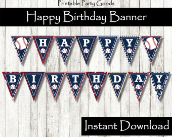 Baseball Birthday Banner Baseball Banner Baseball Party Decoration Baseball Party Baseball Theme Party Baseball Birthday Baseball Decoration