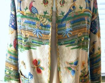 Stunning silk brocade jacket from 1930s