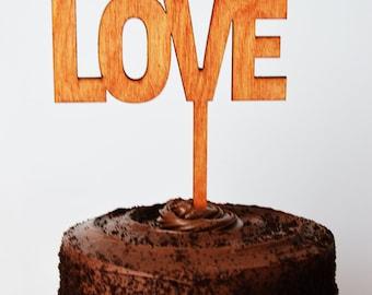 Cake Topper; Wedding, LOVE