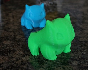Bulbasaur Planter, Bulbasaur Pokemon Planter , Pokemon , 3D printed, Cute, Best Christmas Gift, Monster, Geekery, Stocking Stuffer