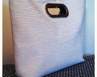 strille white imitation leather handbag grey