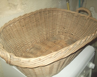 rustic wicker basket linen basket