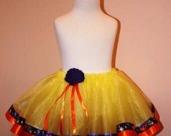 CLEARANCE SIZE 4 READY to Ship Finding Dory Nemo Inspired Yellow Tutu