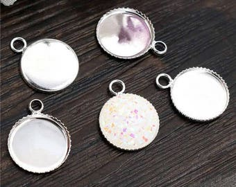 12 mm 10 pendant backings for cabochons 12 mm within 15 days