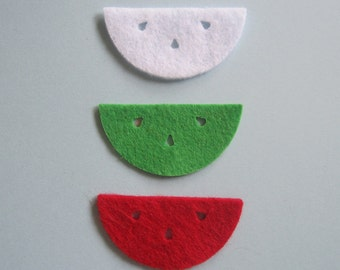 Watermelon Felties - Available in red, green, or white. Perfect for summer scrapbook pages or card making.