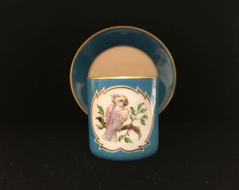 Vintage Small Tea Cup with Bird