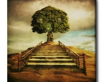 "Giclee Canvas Wall Art ""Treehouse"" by Dariusz Klimczak"