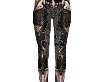 Barbarian Warlord armor Leggings - Small to 3XL - fantasy cosplay chainmail print