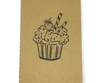 Moleskine - Personalized notebook with cupcake. size pocket (9x14)