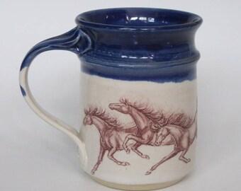 Horses Running Mug