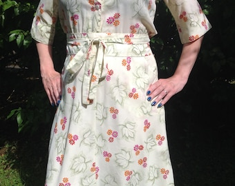 70s dress French vintage