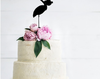 Stork Silhouette Shower Cake Topper | Baby Shower Cake Topper | Baby Shower