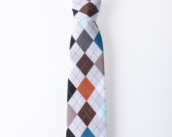 Toddler Necktie - Gray Argyle