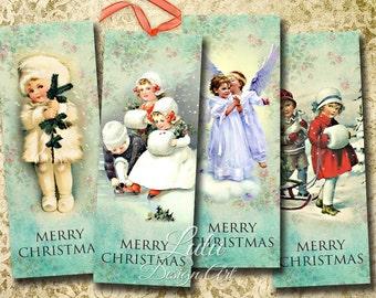 """Digital Bookmarks : """"Christmas Bookmarks"""" printable Christmas digital bookmarks / xmas tags / Christmas cards / Christmas hang tags"""