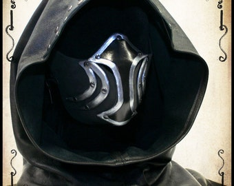 Leather thief hood for LARP