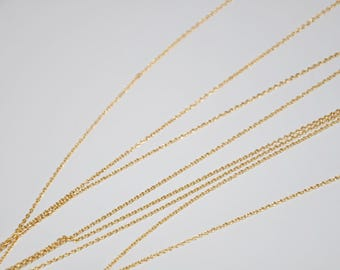 To the inch 1 mm gold plated cable chain