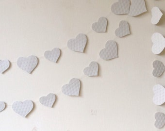 Wedding Garland - Party Decoration - Heart Garland - Wedding Decor - Paper Decoration - Valentine - Photo Prop - Custom Colour/ Length