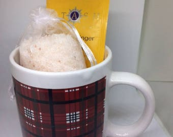 Red Plaid Mug Gift Set