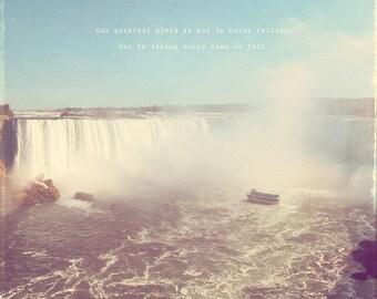 Niagara Falls Print, Niagara Falls Photo, Niagara Falls Photography, Niagara Canada, Canadian Waterfall, Waterfall Print, Waterfall Photo