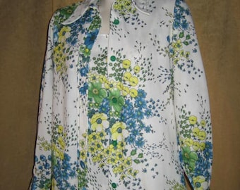 Blouse & Tank Top Set Floral 60s Vintage