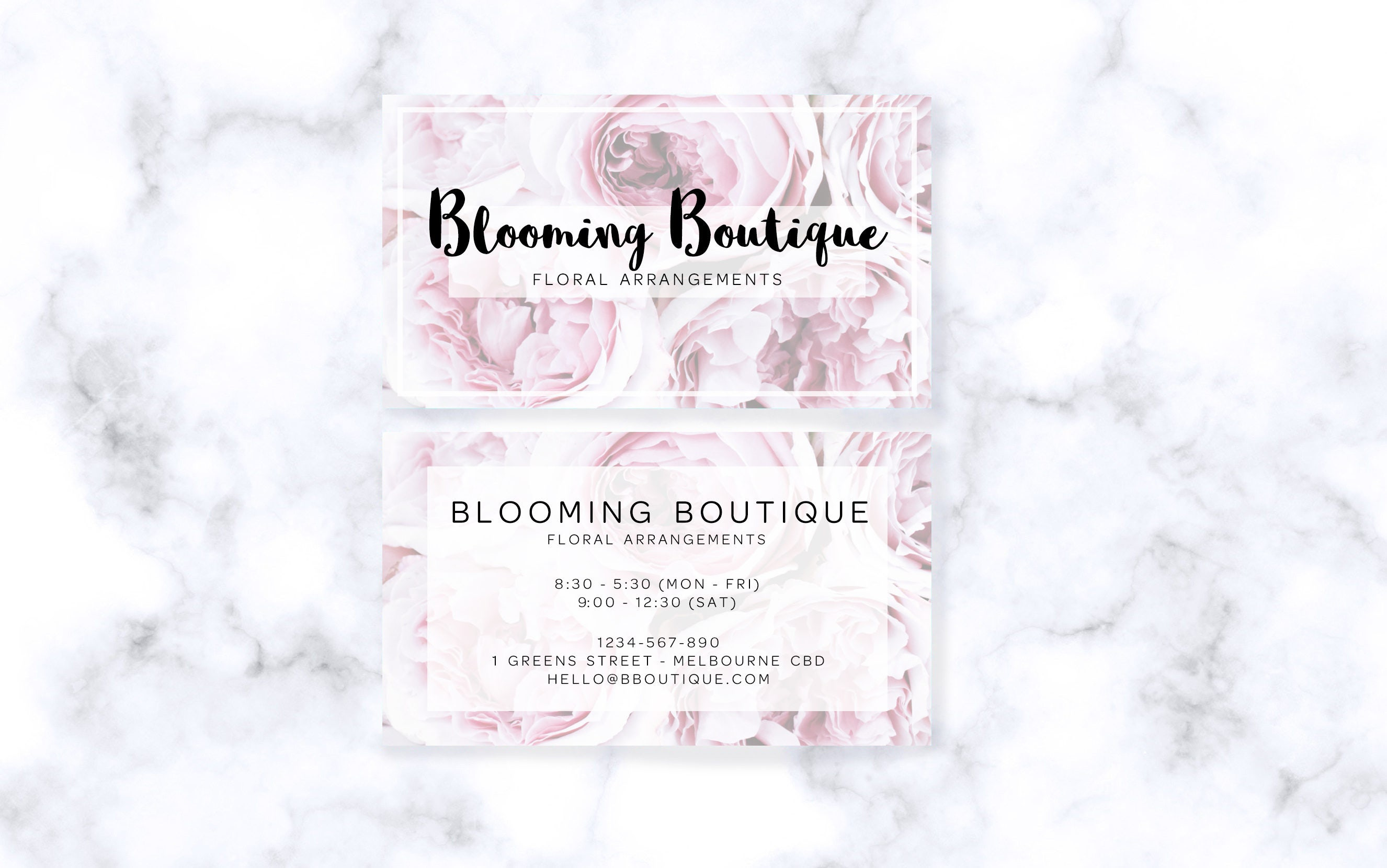 Pastel floral business cards digital download colourmoves
