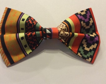handmade abstract colourful bow tie