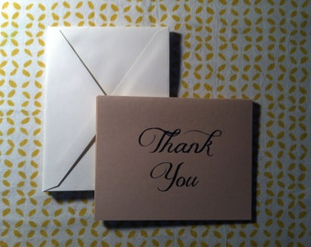 Thank You Note Cards - Set of 5