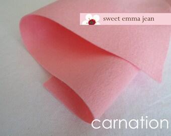 Wool Felt 1 yard cut - Carnation - Light Pink Wool Blend Felt
