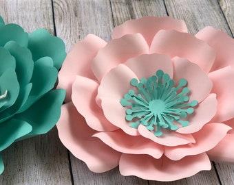 PDF paper flower template #4