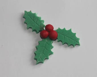 Edible Large Holly Cake Topper