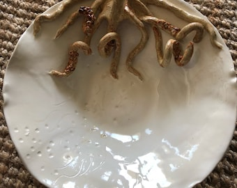 Large Octopus bowl handmade by Chark
