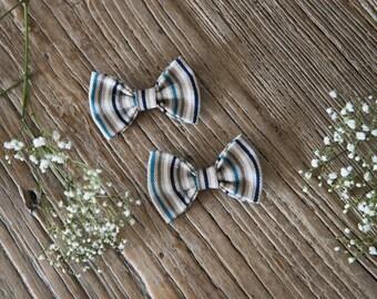 TERESA Hair Ribbons COMBO-Mini//Blue lines