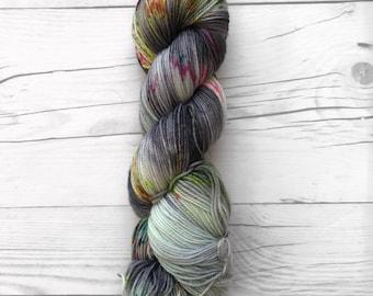 "Maven Sock - ""Street Fair"" - Fingering Weight  - Hand Dyed Yarn"