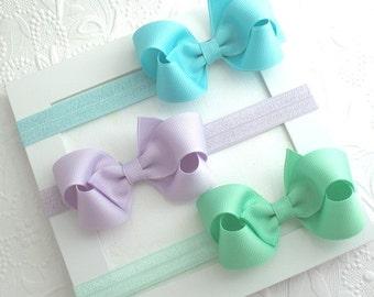 Baby Headbands, Bow Headbands, Infant Headbands, Newborn Headbands, Headband Set, Baby Bow Set, Baby Girl Gift, Set of Baby Hair Bows