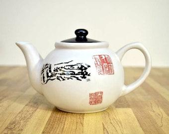 Weinlese asiatischen Themen Keramik Steingut Teekanne zwei Tassen Kapazität