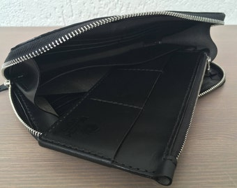 """Leather clutch """" Mizar and Alcor"""", 2 in 1, zip"""
