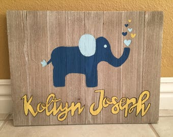Handmade Personalized Wood Sign