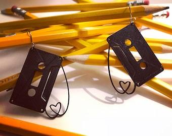 Mixed Tape 3D Printed Earrings